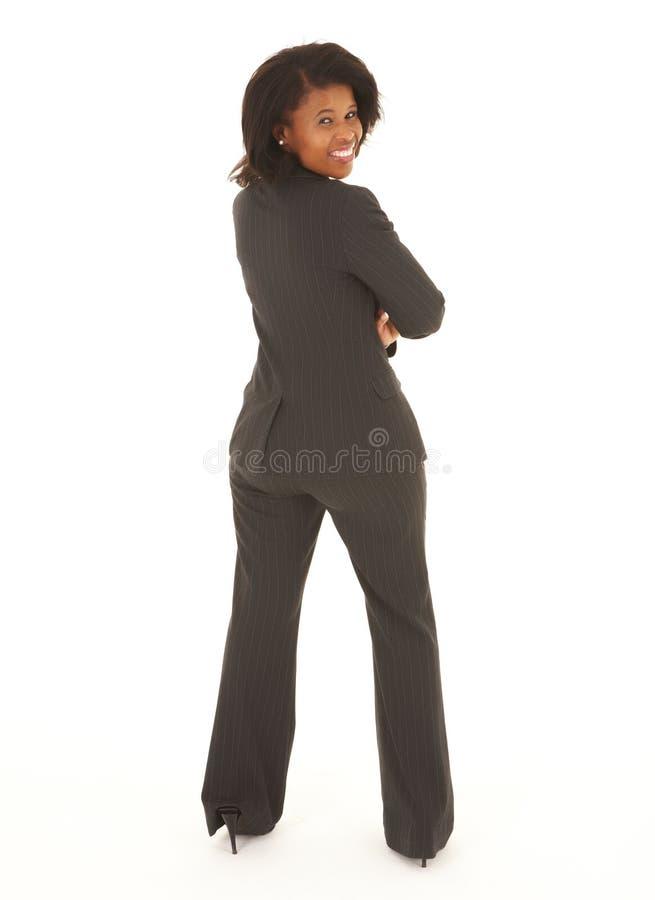 Mulher de negócios preta fotografia de stock