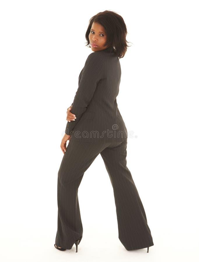 Mulher de negócios preta foto de stock royalty free