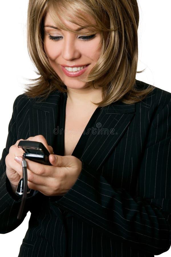 Mulher de negócios que faz um atendimento imagem de stock royalty free