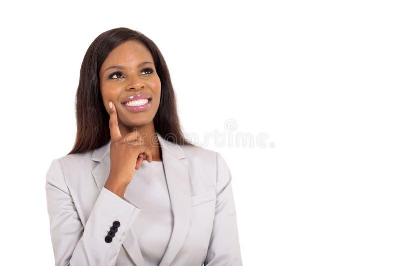 Mulher de negócios que olha acima fotos de stock royalty free