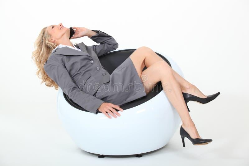 Mulher de negócios Relaxed fotografia de stock royalty free