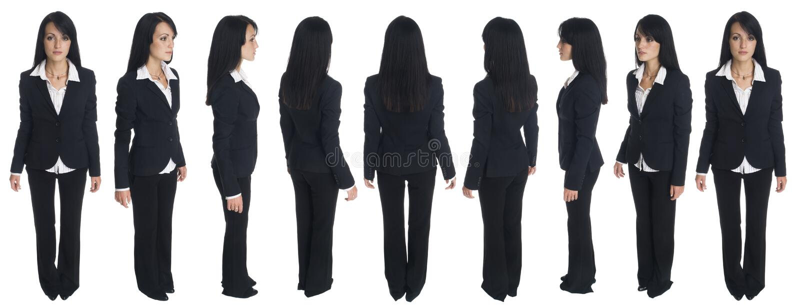 Mulher de negócios - rotação fotografia de stock