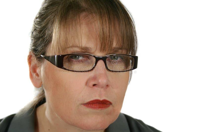 Mulher de negócios séria foto de stock
