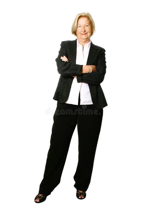 Mulher de negócios sênior, completamente. fotografia de stock
