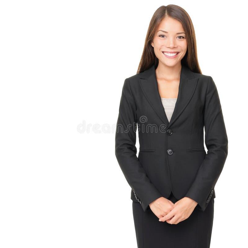 Mulher de negócios sobre o branco imagens de stock