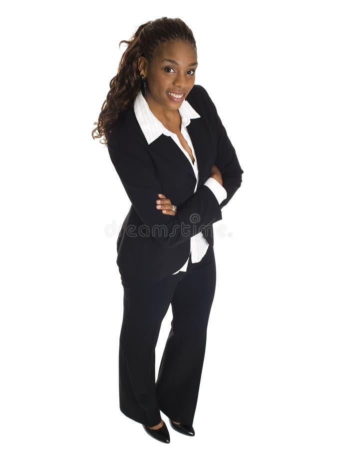 Mulher de negócios - sorriso do ângulo elevado fotos de stock