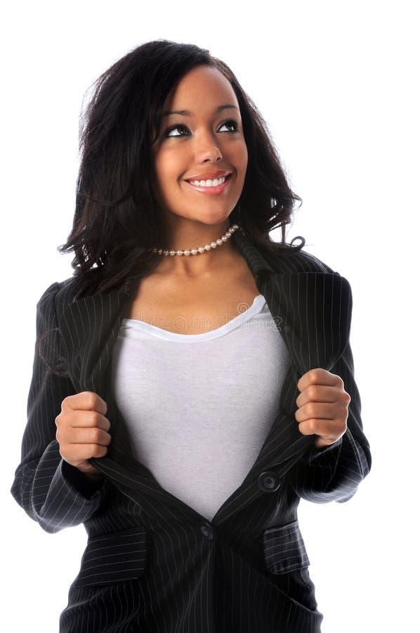 Mulher de negócios super foto de stock royalty free