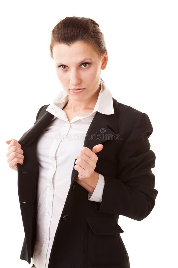 Mulher de negócios super fotografia de stock royalty free