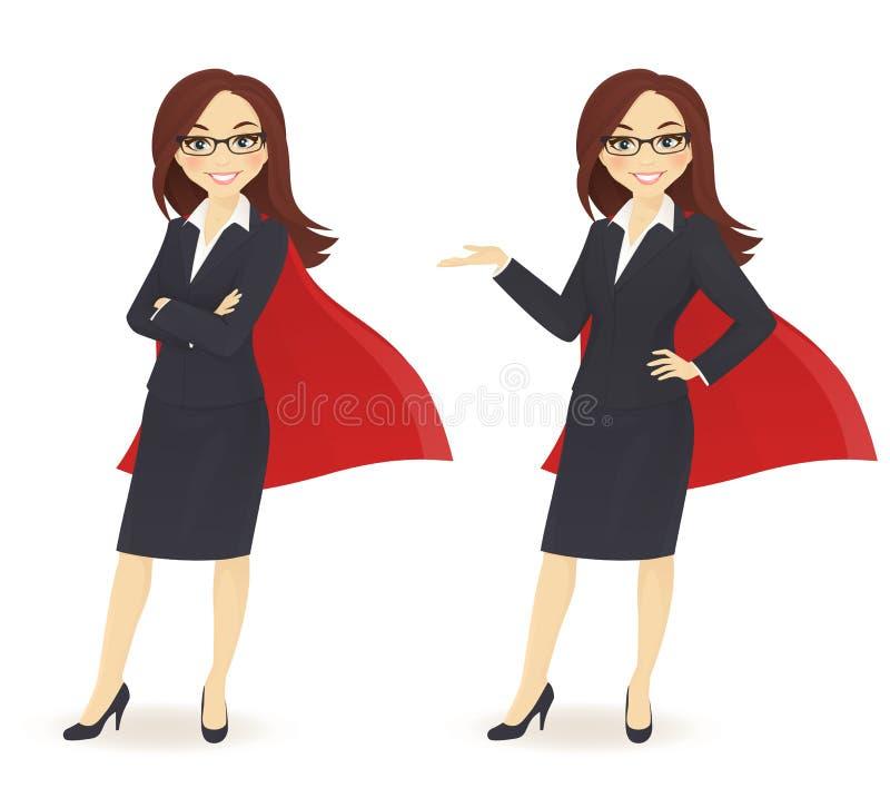 Mulher de negócios super ilustração stock