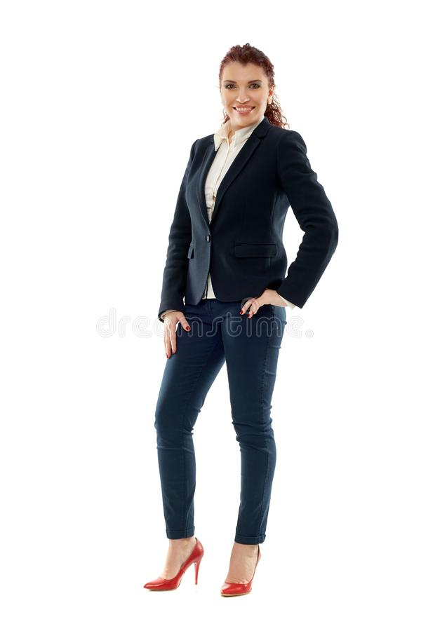 Mulher de negócios superior do latino fotos de stock royalty free