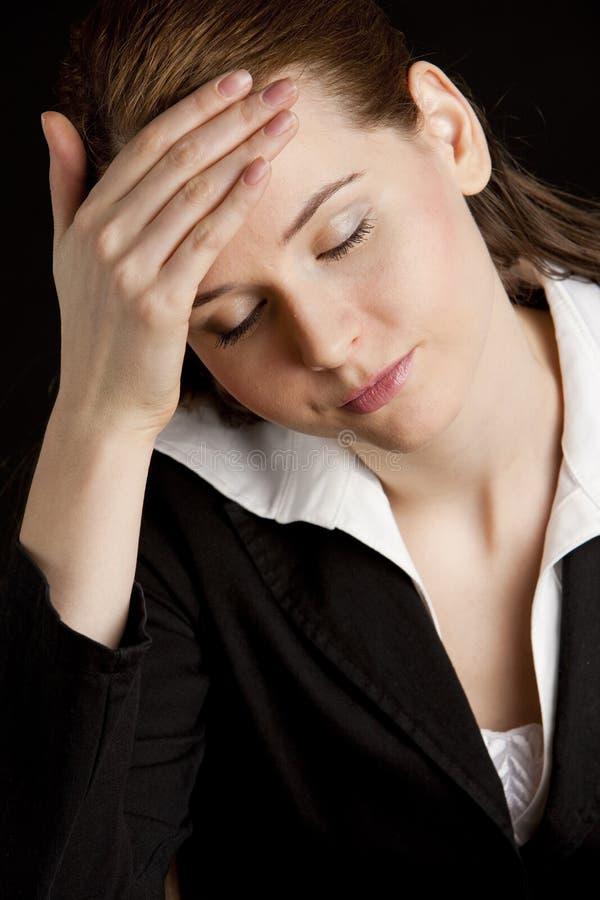 Mulher de negócios Tired imagem de stock royalty free