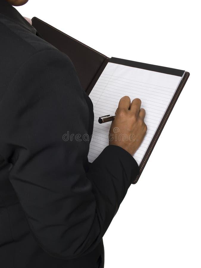 Mulher de negócios - tomando notas imagens de stock royalty free