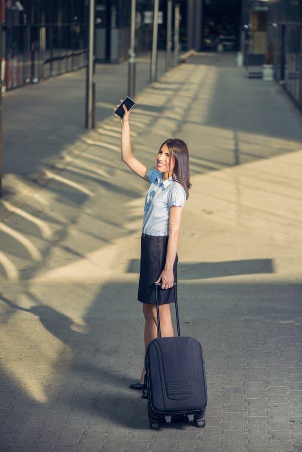Mulher de negócios Traveling imagens de stock royalty free