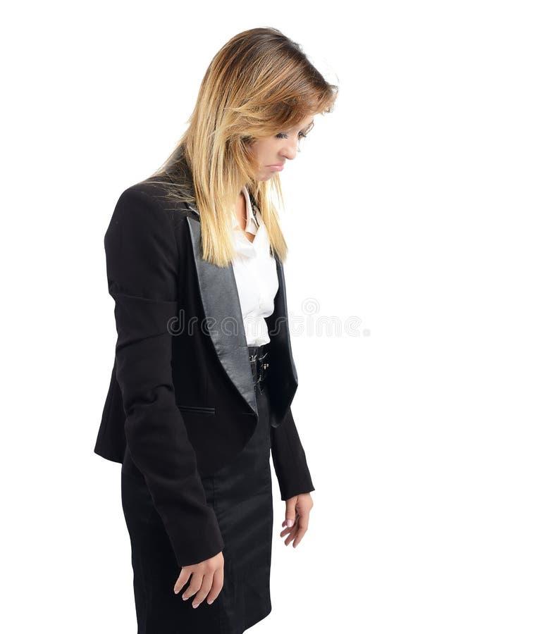 Mulher de negócios triste imagem de stock