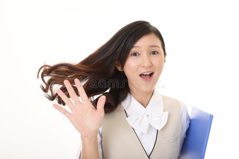 Mulher de neg?cio de sorriso imagens de stock