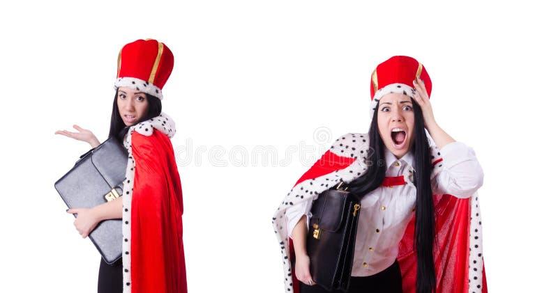 A mulher de neg?cios da rainha no conceito do neg?cio imagem de stock royalty free