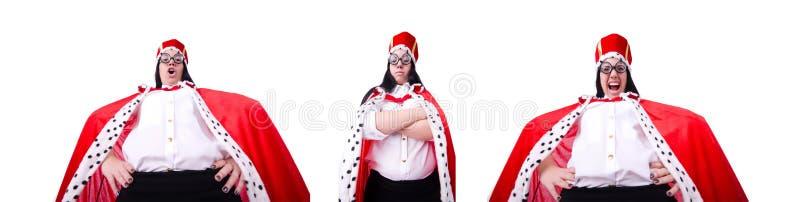 A mulher de neg?cios da rainha no conceito do neg?cio fotografia de stock royalty free