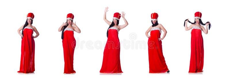 A mulher de neg?cios da rainha no conceito do neg?cio imagens de stock royalty free
