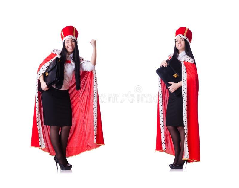 Mulher de neg?cios da rainha no conceito do neg?cio imagens de stock royalty free