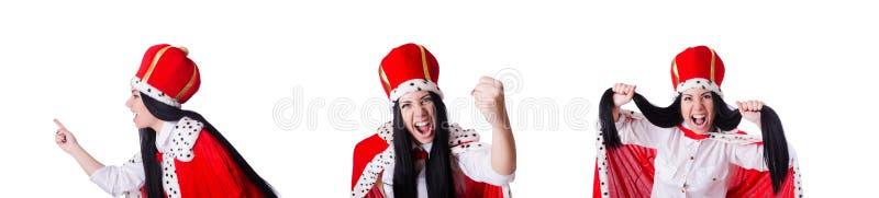 Mulher de neg?cios da rainha no conceito do neg?cio fotos de stock royalty free