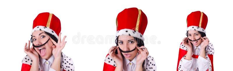 Mulher de neg?cios da rainha no conceito do neg?cio imagem de stock royalty free