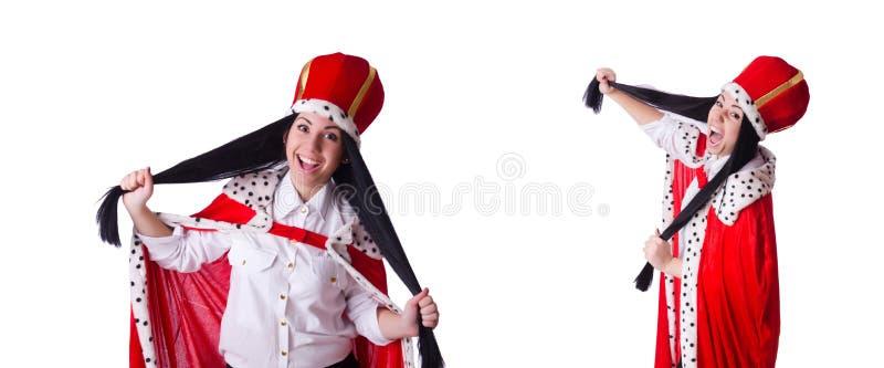Mulher de neg?cios da rainha no conceito do neg?cio foto de stock royalty free
