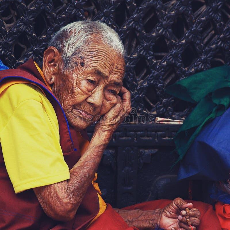 Mulher de Nepal foto de stock royalty free
