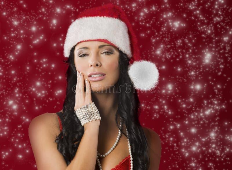 Download Mulher de Papai Noel imagem de stock. Imagem de bresta - 16869809