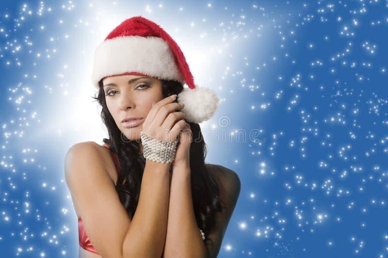 Download Mulher de Papai Noel imagem de stock. Imagem de expressão - 16869903