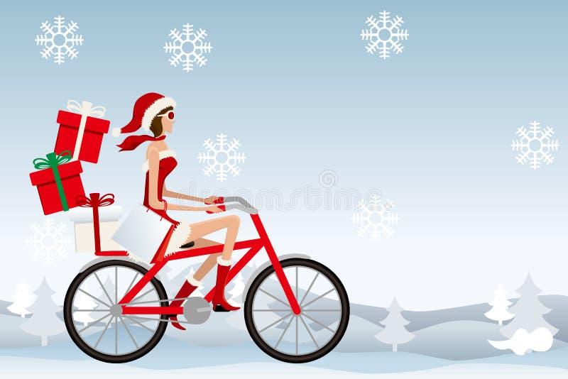 Mulher de Papai Noel ilustração stock