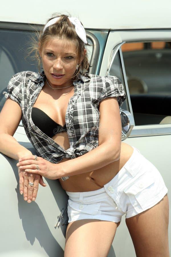 Mulher de Pinup fotografia de stock
