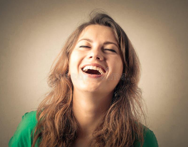 Mulher de riso fotos de stock royalty free