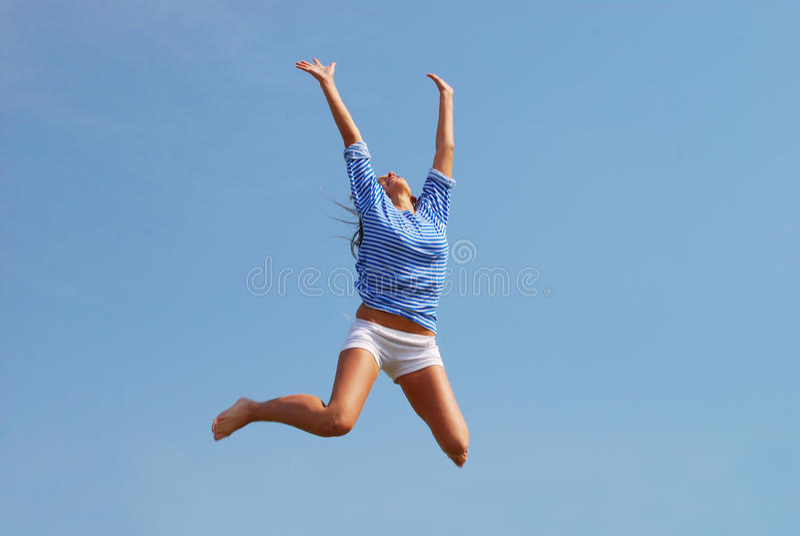 Mulher de salto foto de stock royalty free