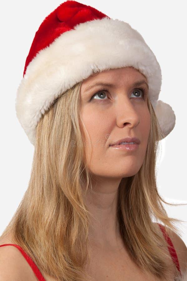 Download Mulher De Santa Que Olha Acima Foto de Stock - Imagem de retrato, atrativo: 16867118