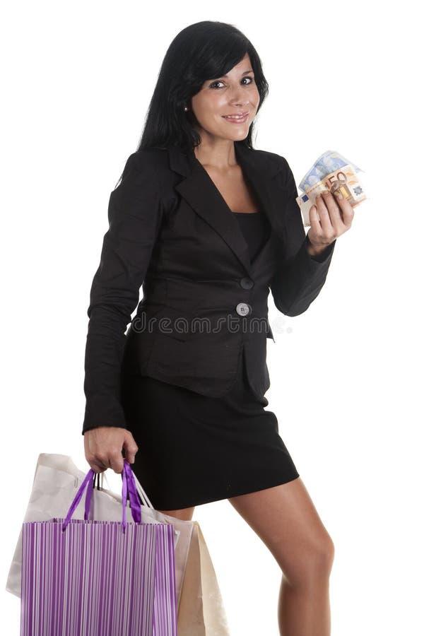 Mulher de Shopaholic fotos de stock royalty free