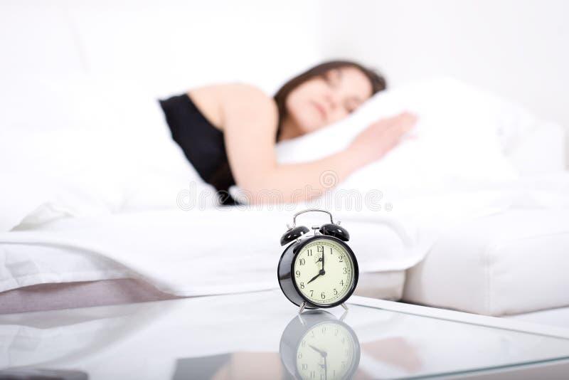 Mulher de sono imagem de stock royalty free