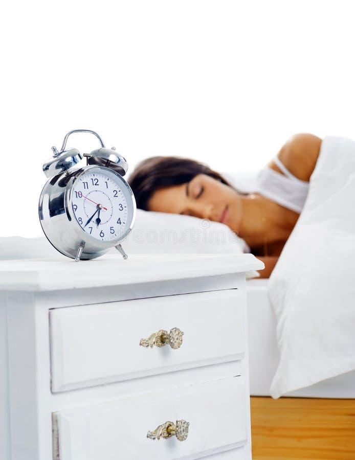 Mulher de sono bonita fotografia de stock royalty free