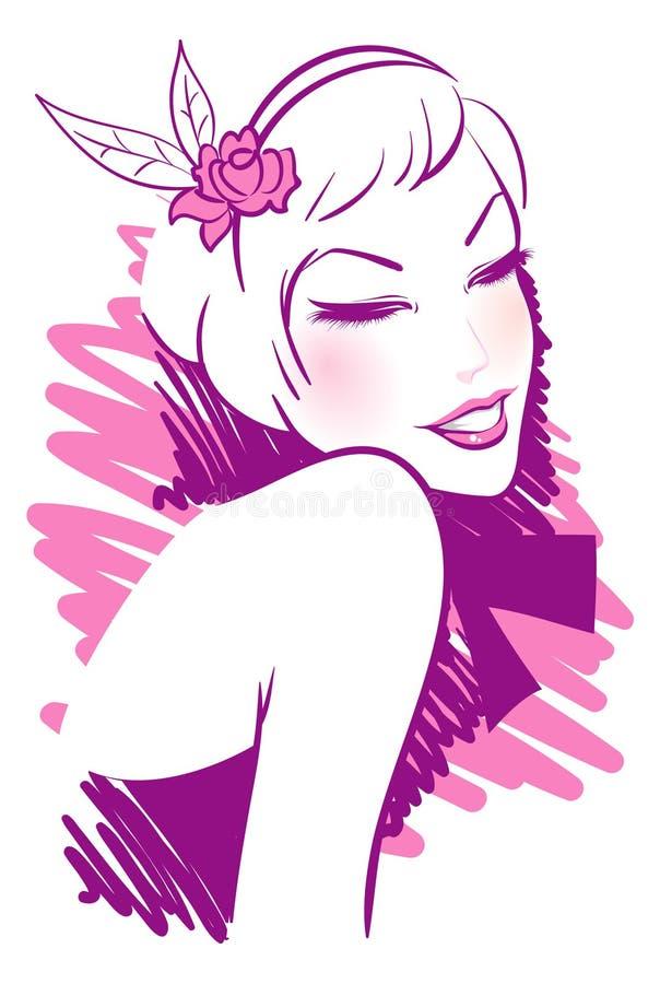 Mulher de sorriso ilustração stock