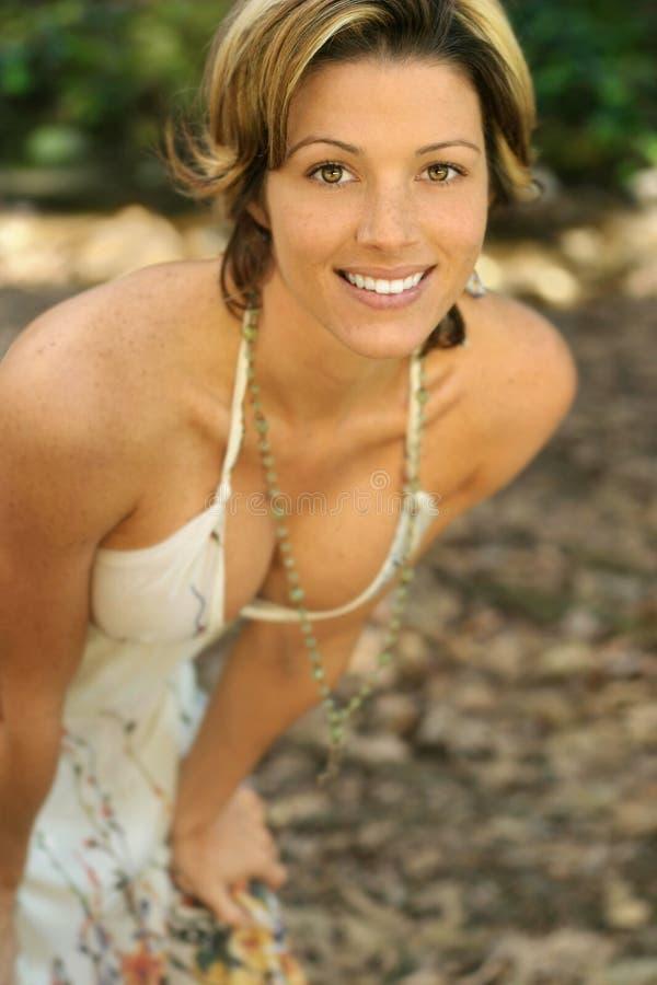 Mulher de sorriso fotos de stock royalty free