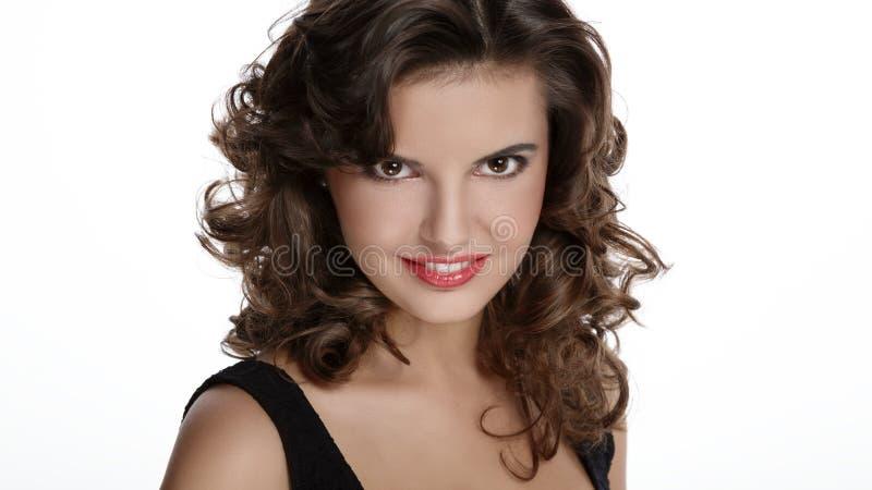 Mulher de sorriso bonita fotos de stock