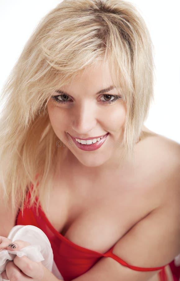 Mulher de sorriso bonita imagens de stock
