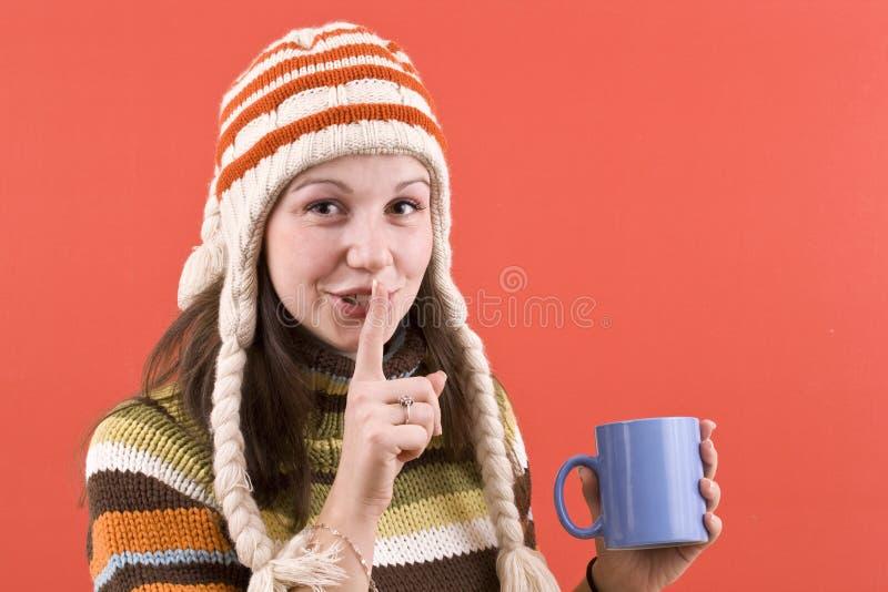 Download Mulher de sorriso com copo foto de stock. Imagem de café - 16850680