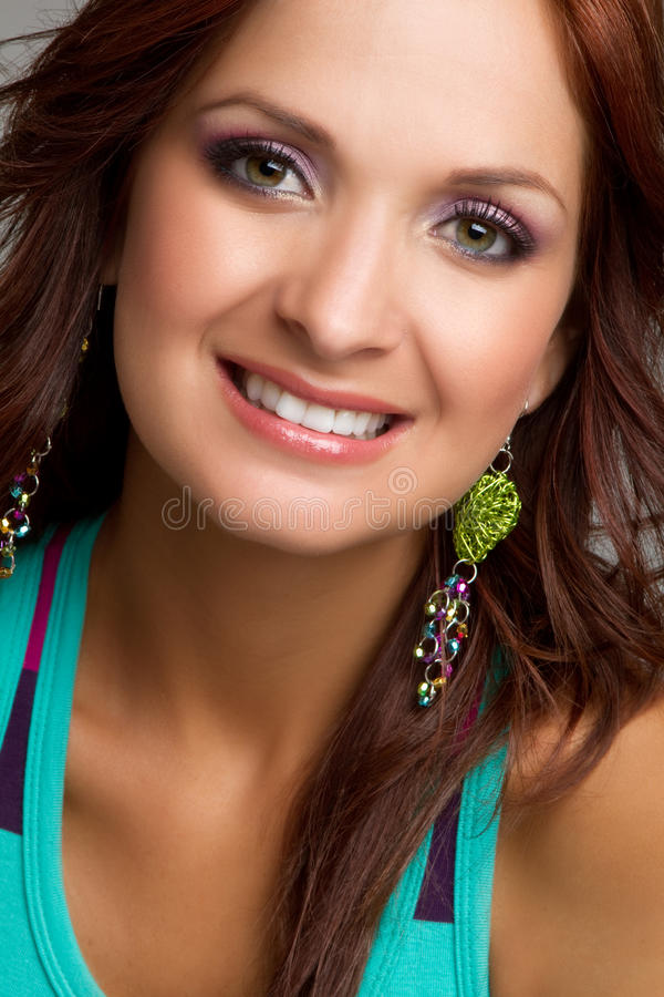 Mulher de sorriso de Headshot imagem de stock