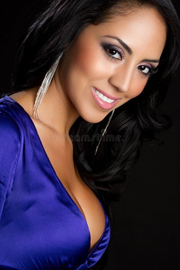 Mulher de sorriso de Latina imagem de stock