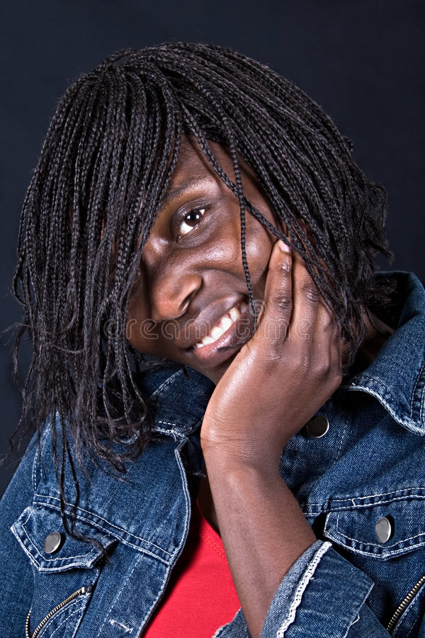 Mulher de sorriso do African-American fotografia de stock