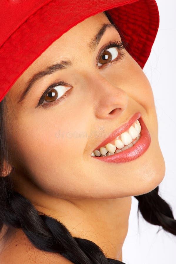 Mulher de sorriso do encanto fotos de stock