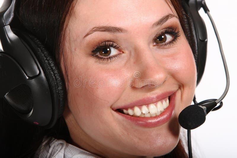 Download Mulher De Sorriso Do Operador Em Um Centro De Chamadas Foto de Stock - Imagem de comunique, businesspeople: 12803696