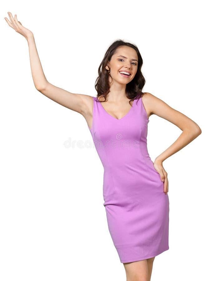 Mulher de sorriso feliz imagens de stock royalty free