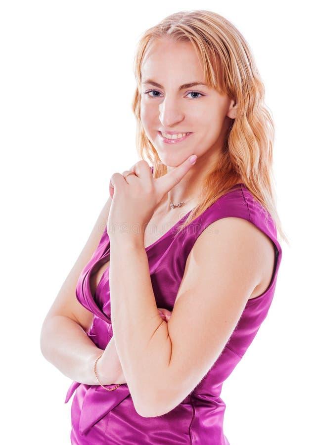 Mulher de sorriso feliz fotos de stock royalty free