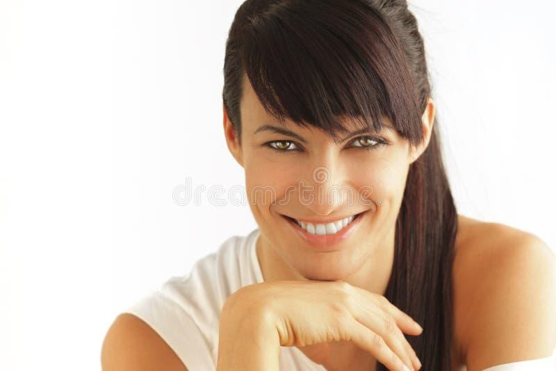 Mulher de sorriso natural fotos de stock